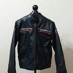 ARIZONA Men's Black Leather Motorcycle Jacket Med